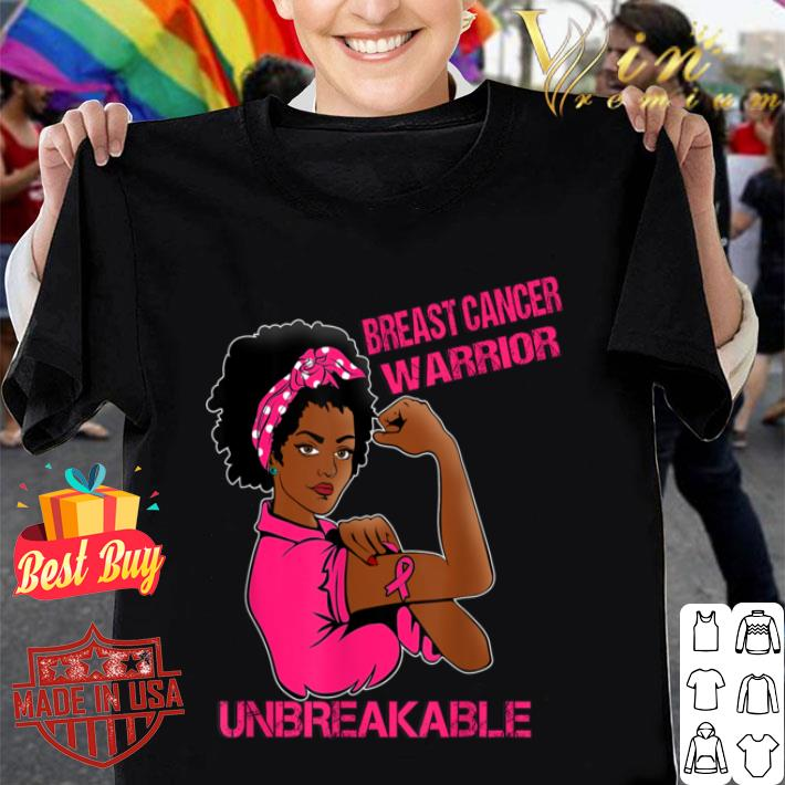 Breast Cancer Warrior Afro Girl shirt