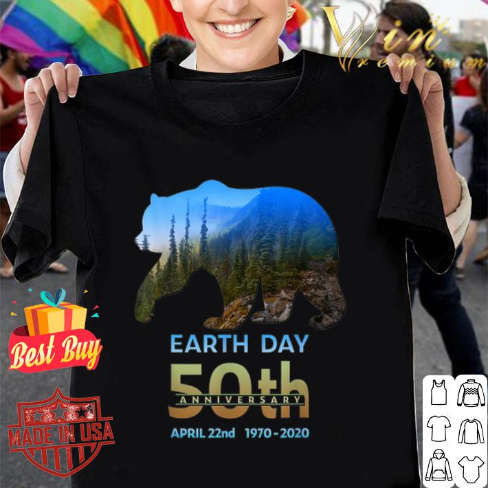 Brown Bear Silhouette earth day 50th anniversary april 22nd shirt