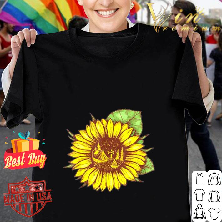 Camping and sunflower shirt