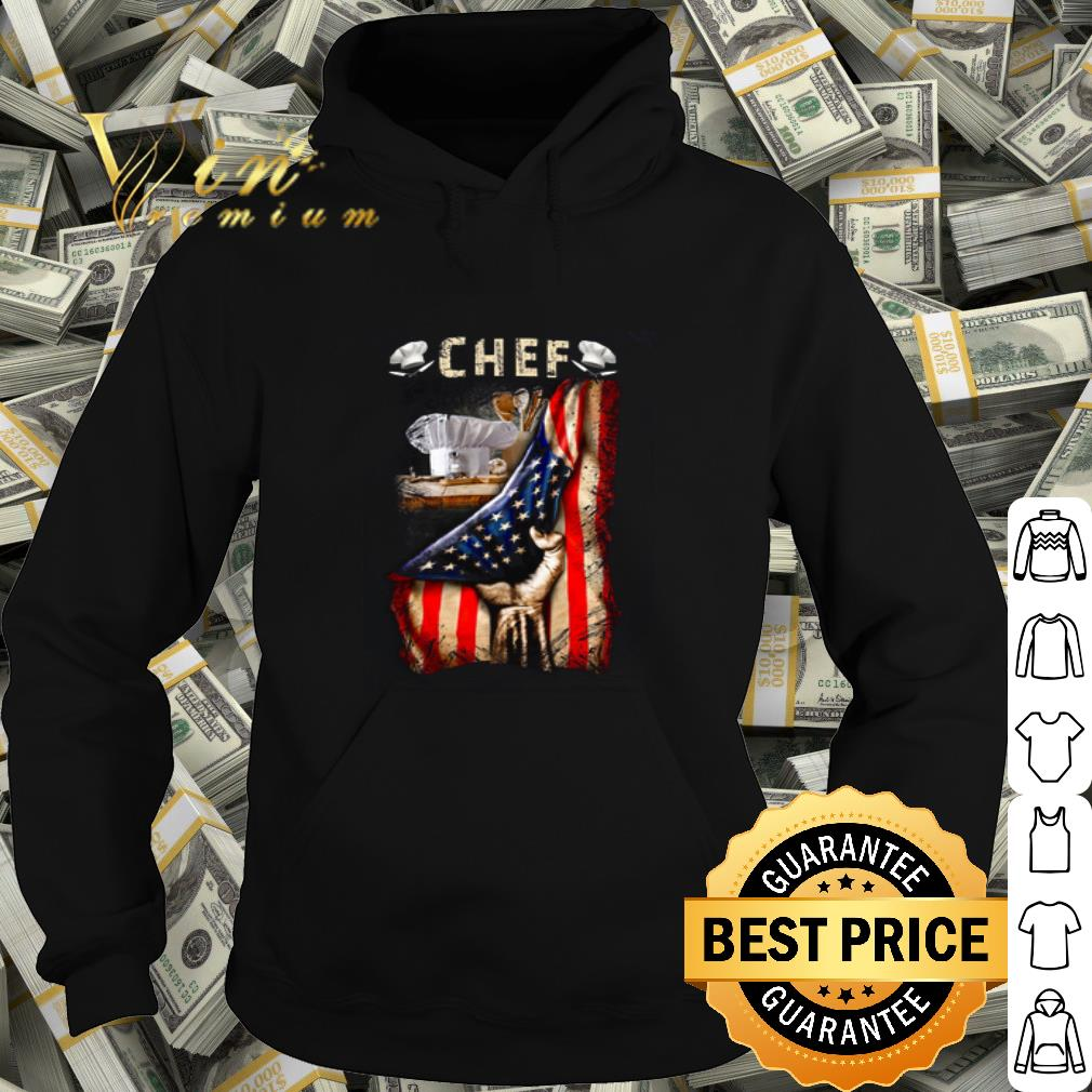 Chef Cooking American Flag shirt