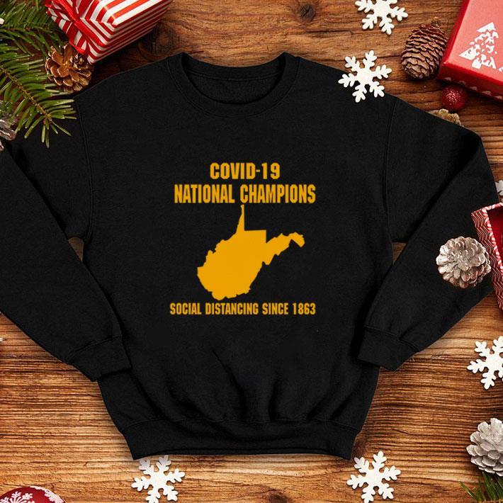 Coronavirus Covid-19 National Champions social distancing since 1863 shirt