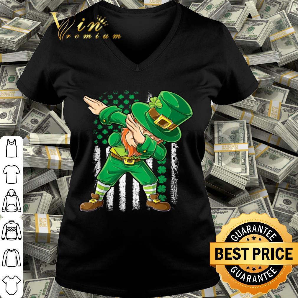 Dabbing Leprechaun Irish American Flag St Patricks Day Boys T-shirt