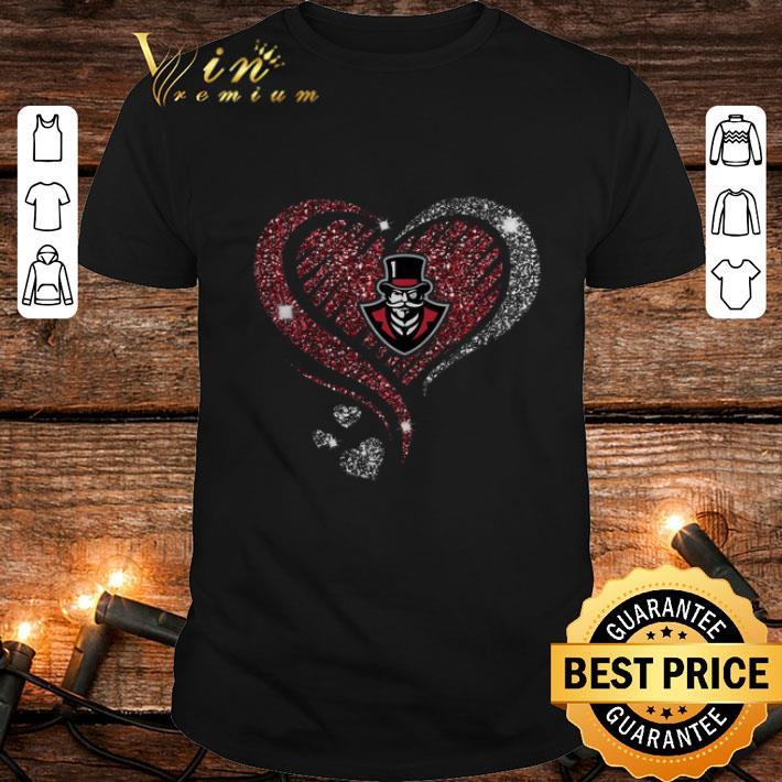 Diamond heart love Austin Peay Governors logo shirt 1