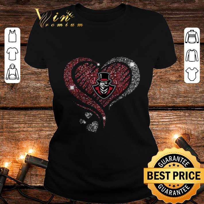 Diamond heart love Austin Peay Governors logo shirt 2