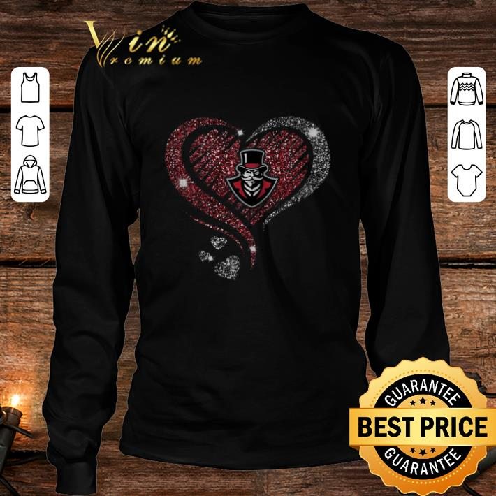Diamond heart love Austin Peay Governors logo shirt 3