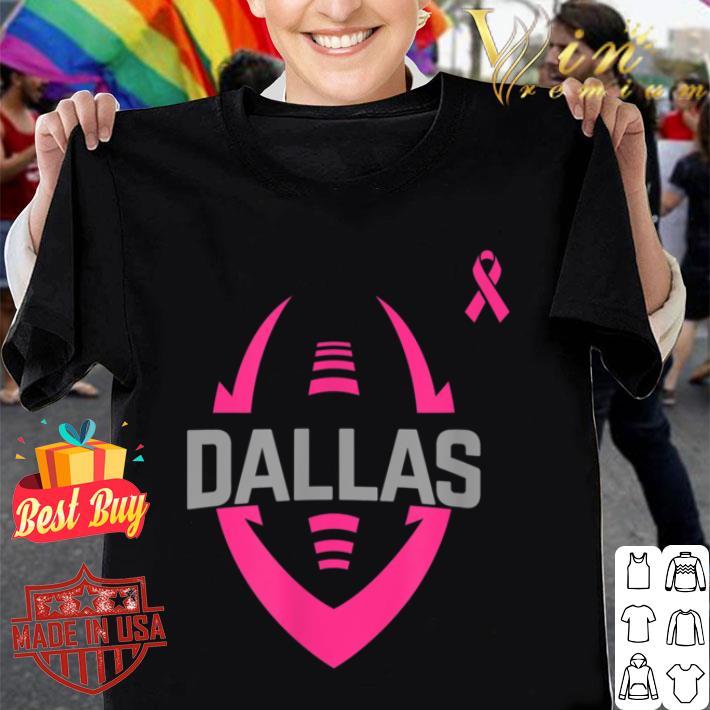 Football Breast Cancer Pink Ribbon Dallas shirt