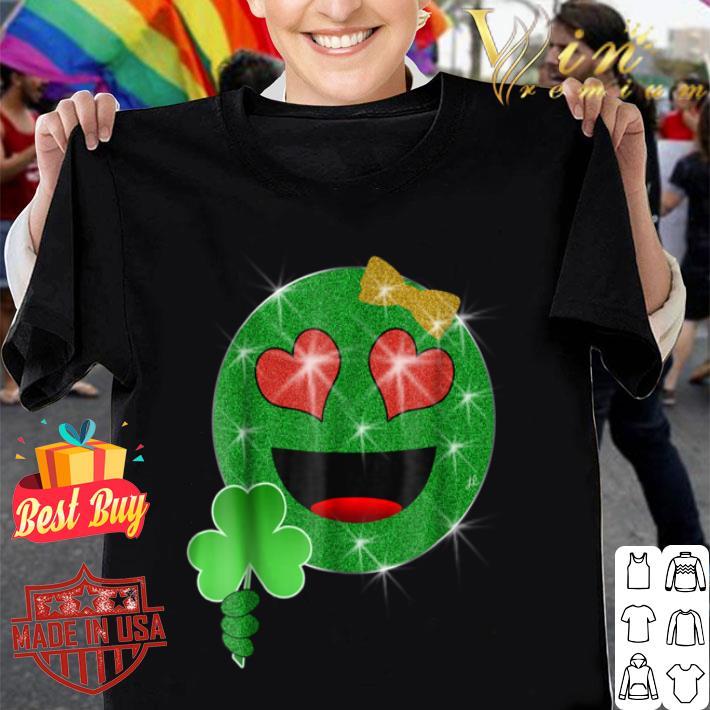 Funny St. Patrick's Day Heart Eyes Emoji T-shirt