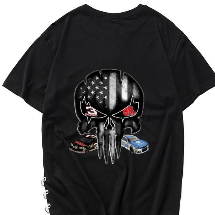 Hot Austin Dillon and Alex Bowman signature Punisher American flag shirt