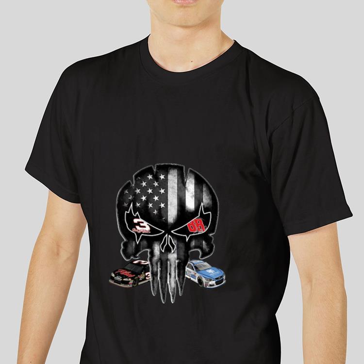 Hot Austin Dillon and Alex Bowman signature Punisher American flag shirt 3