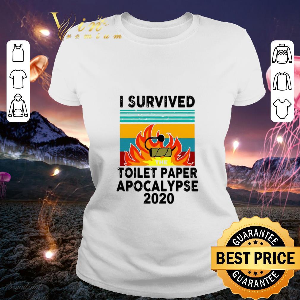 I survived the Toilet Paper Apocalypse 2020 vintage shirt 2