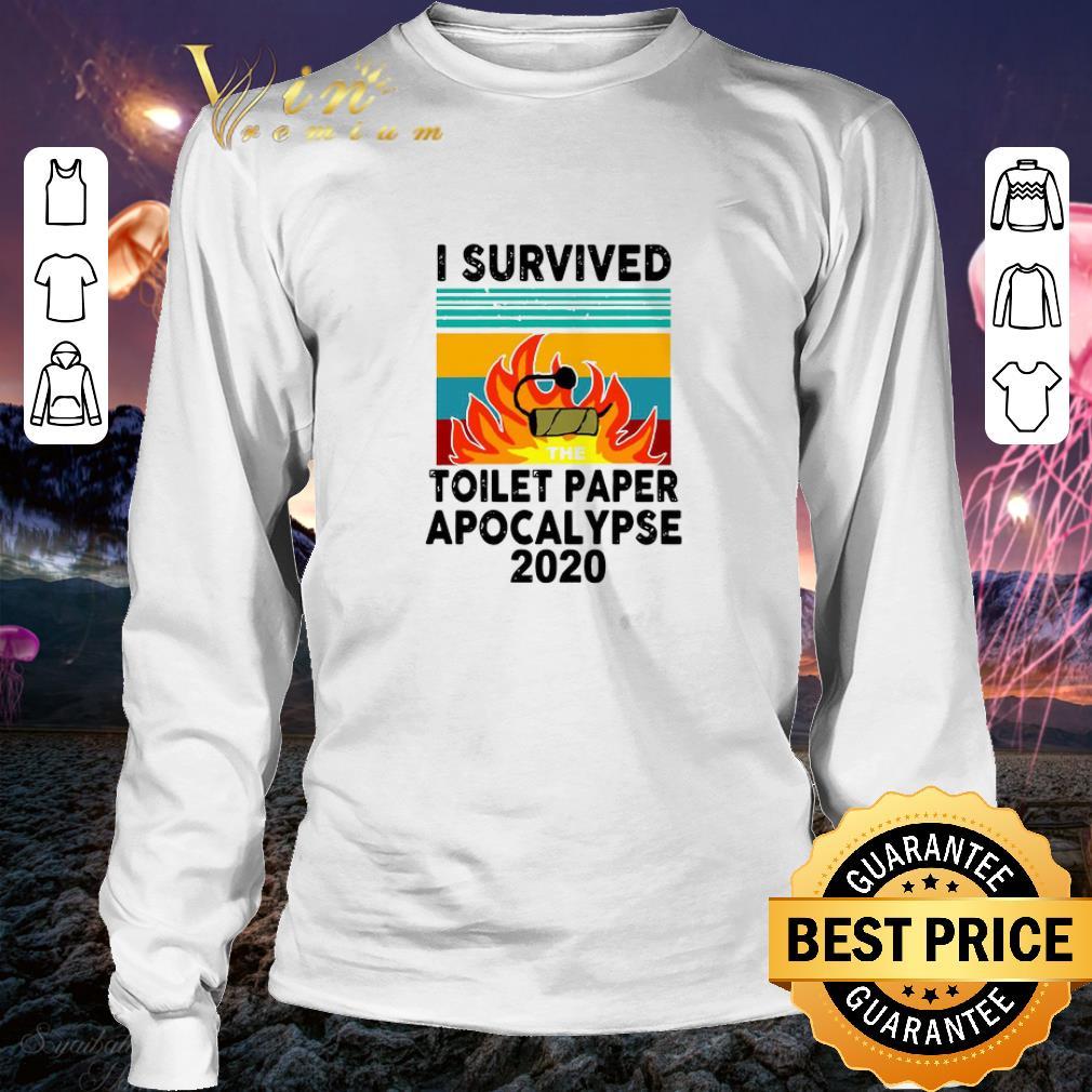 I survived the Toilet Paper Apocalypse 2020 vintage shirt 3