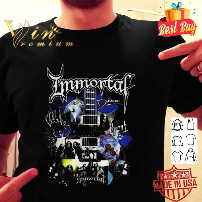 Immortal band guitar signatures shirt