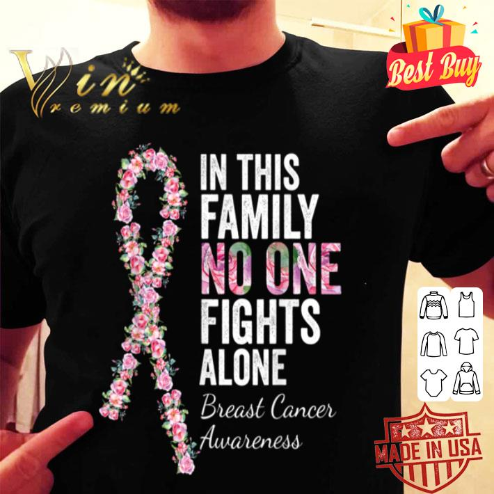In This Family No One Fights Alone Women Breast Cancer shirt