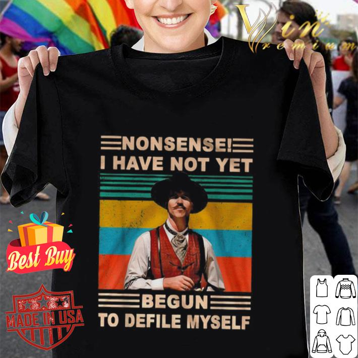 Kevin Costner Nonsense I have not yet begun to defile myself vintage shirt
