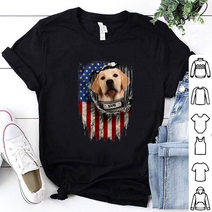 Labrador Retriever name American flag shirt 1