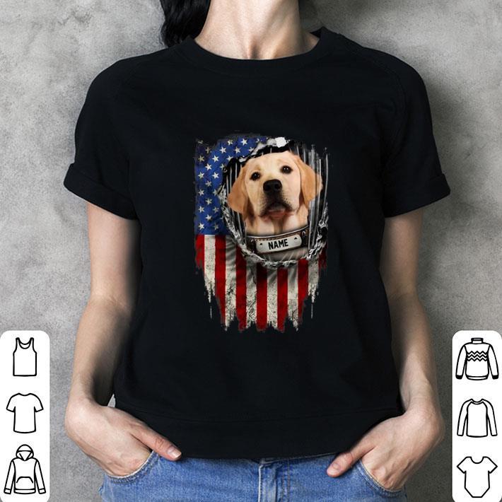 Labrador Retriever name American flag shirt 3