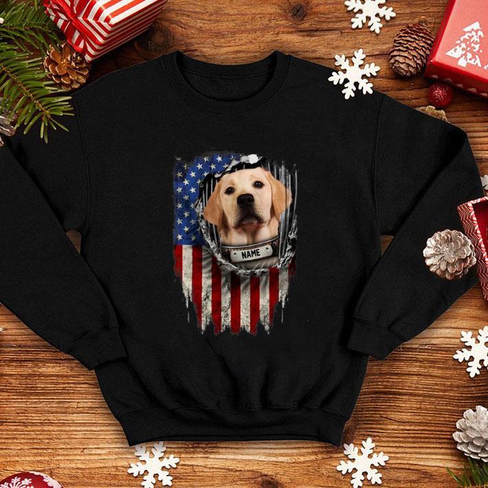 Labrador Retriever name American flag shirt