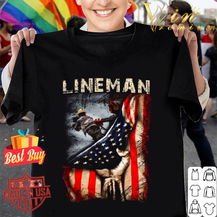 Lineman American Flag shirt