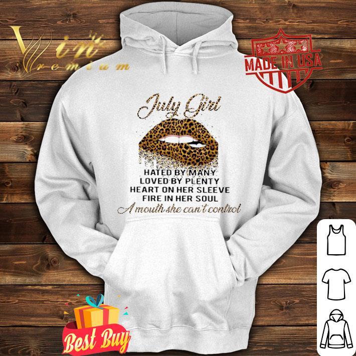 Lips Leopard July Girl Hated By Many Loved By Plenty Loved By Plenty shirt