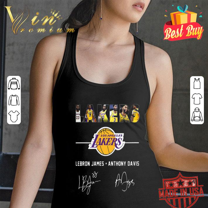 Los Angeles Lakers Logo Lebron James Anthony Davis Signatures shirt