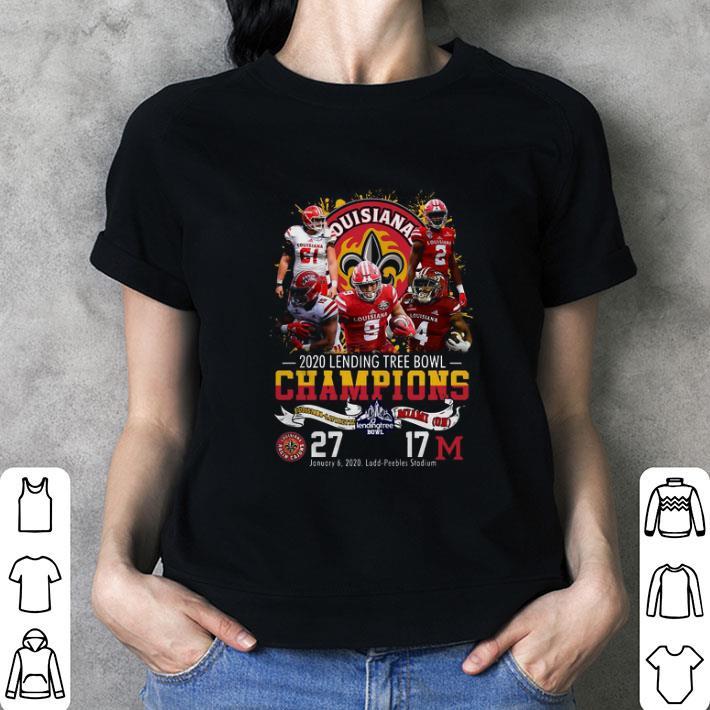 Louisiana Lafayette 2020 Lending Tree Bowl Champions shirt 3