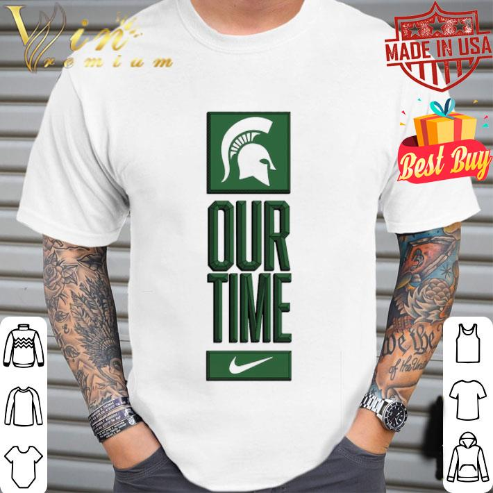 Michigan State Spartans logo basketball Our Time 2020 shirt