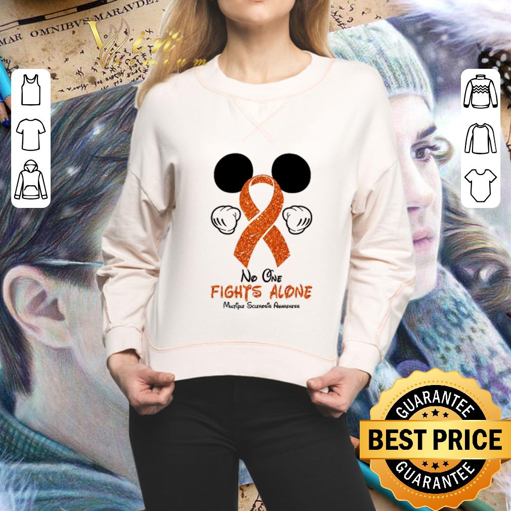 Mickey Disney no one fights alone Multiple Sclerosis Awareness shirt