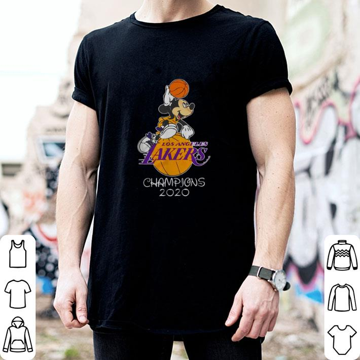 Mickey Mouse Los Angeles Lakers champions 2020 shirt 2