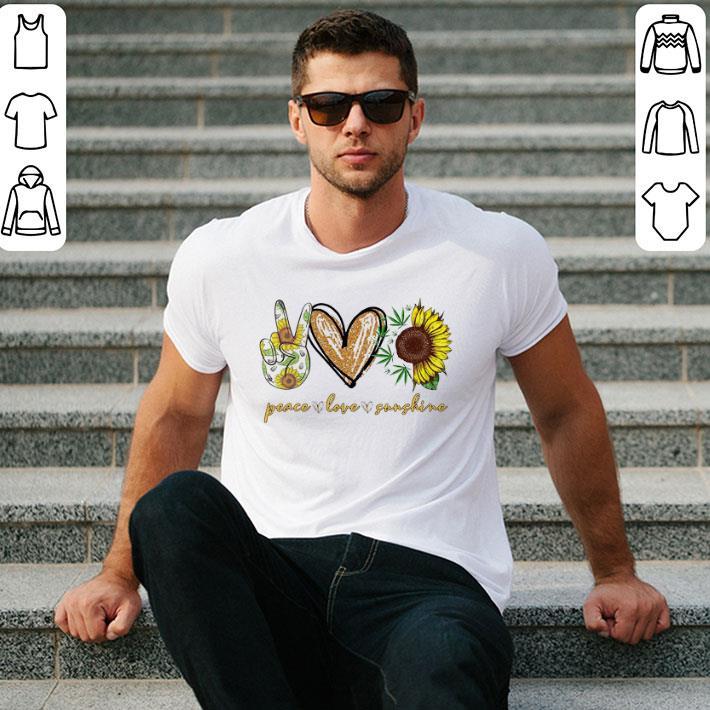 Peace Love Sunshine Weed sunflower shirt