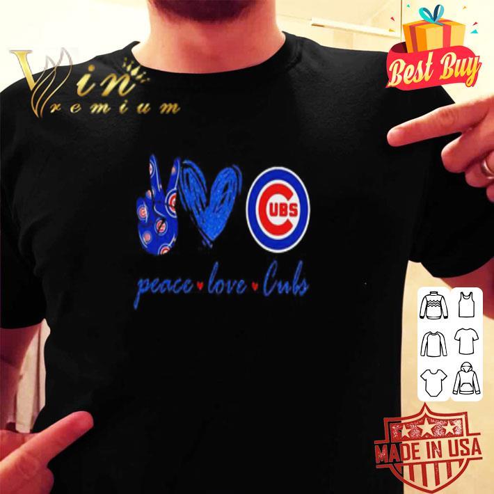 Peace love Chicago Cubs logo shirt