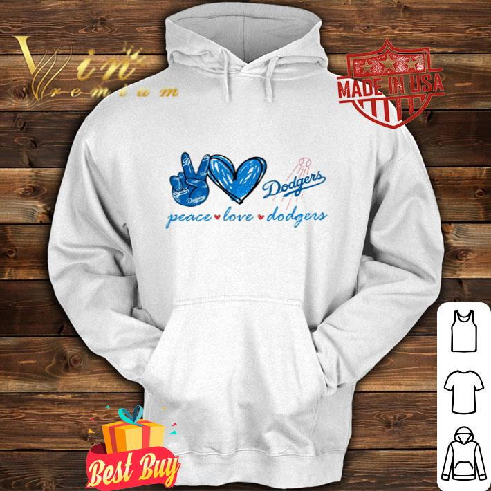 Peace love Los Angeles Dodgers logo shirt