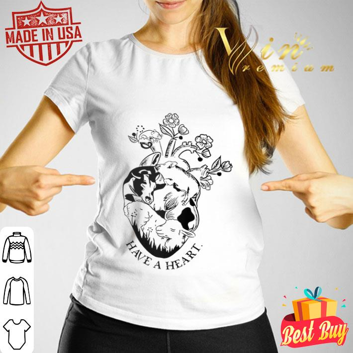 Pig and cow have a heart shirt