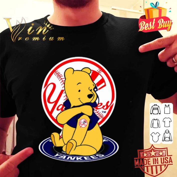 Pooh tattoos New York Yankees logo shirt