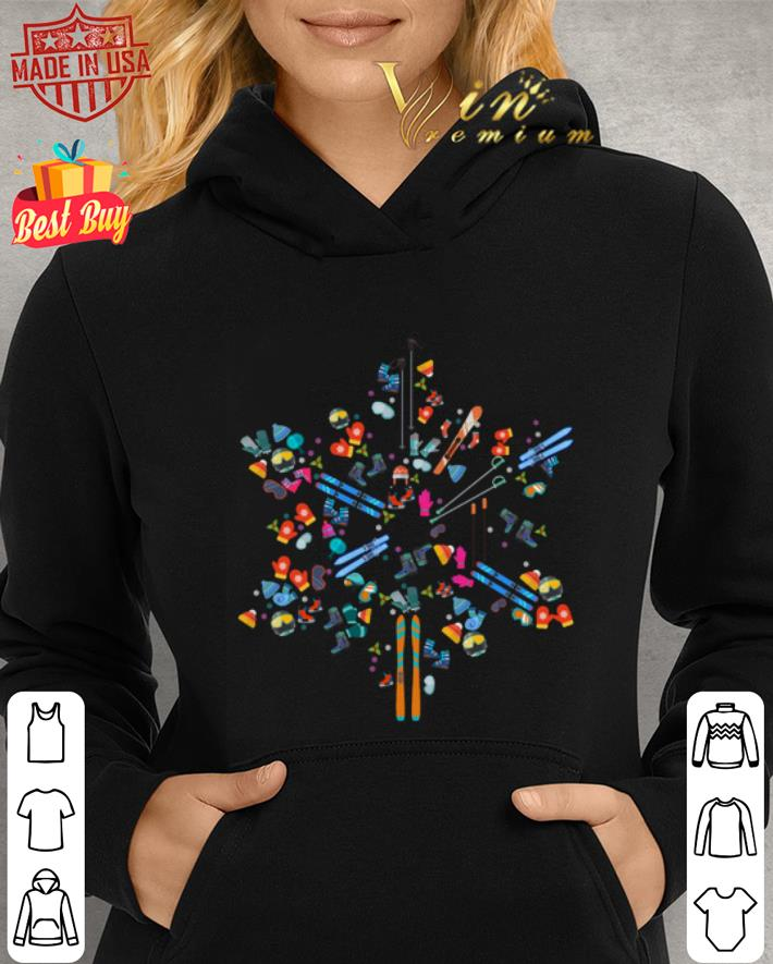 Snowflakes Skiing love shirt 4
