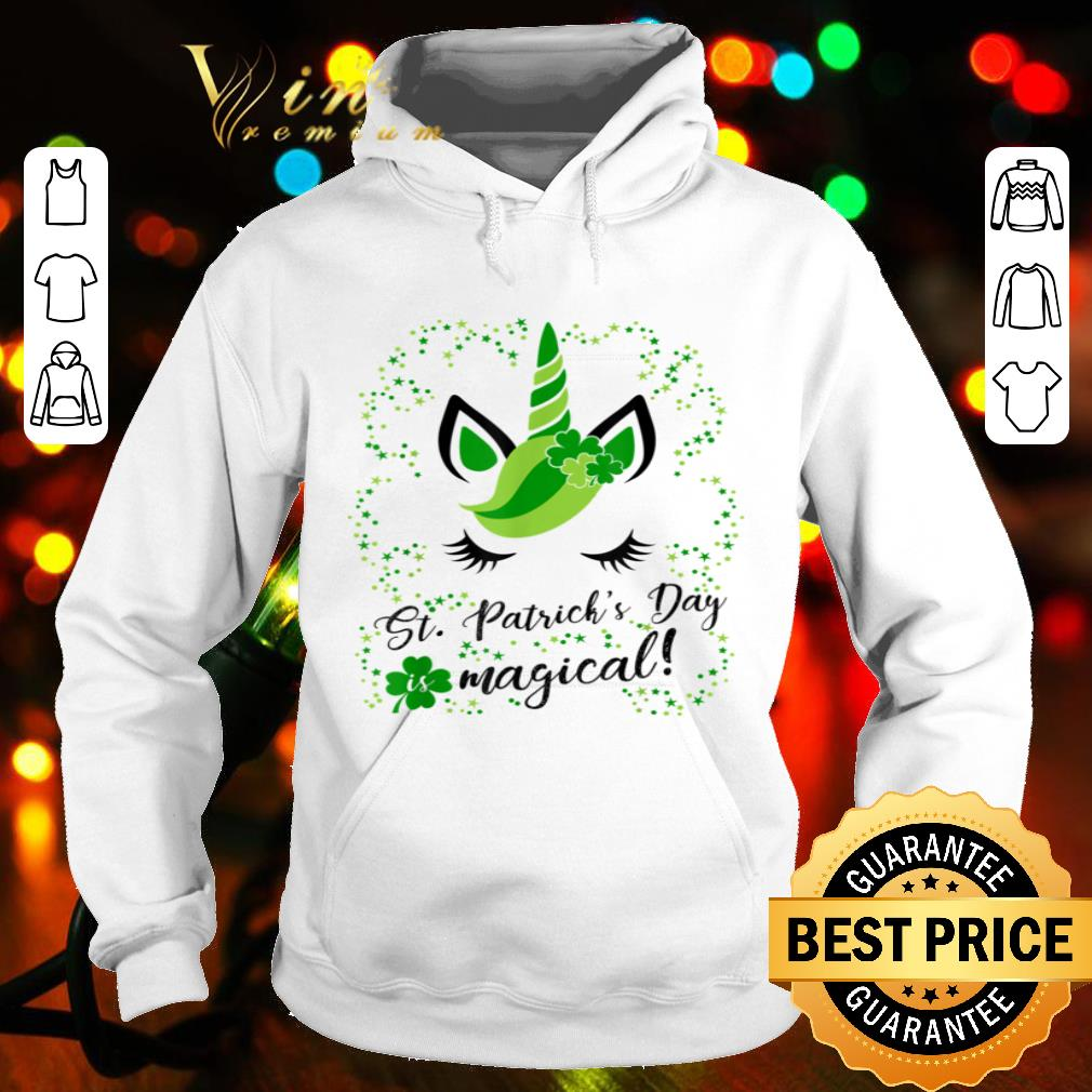 St Patricks day is magical! Cute & Funny Unicorn Tshirt