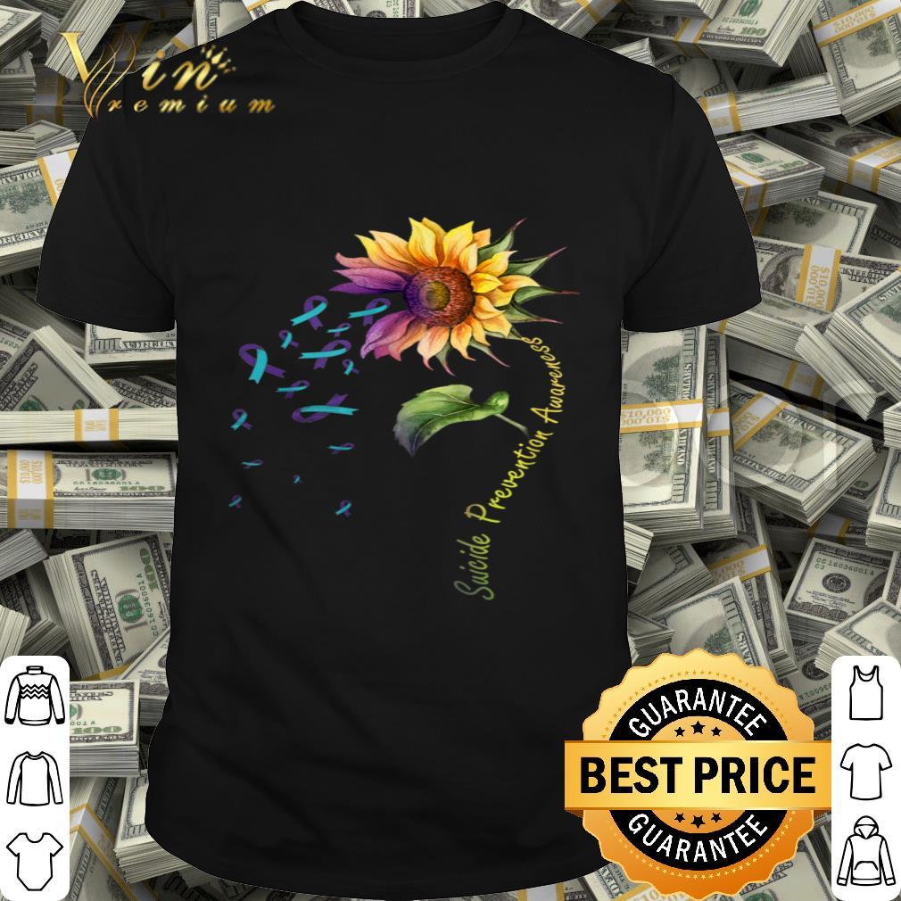 Suicide Prevention Awareness Sunflower shirt