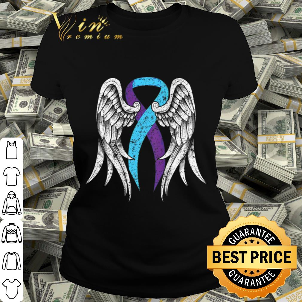 Suicide Prevention Awareness Wings and Ribbon shirt
