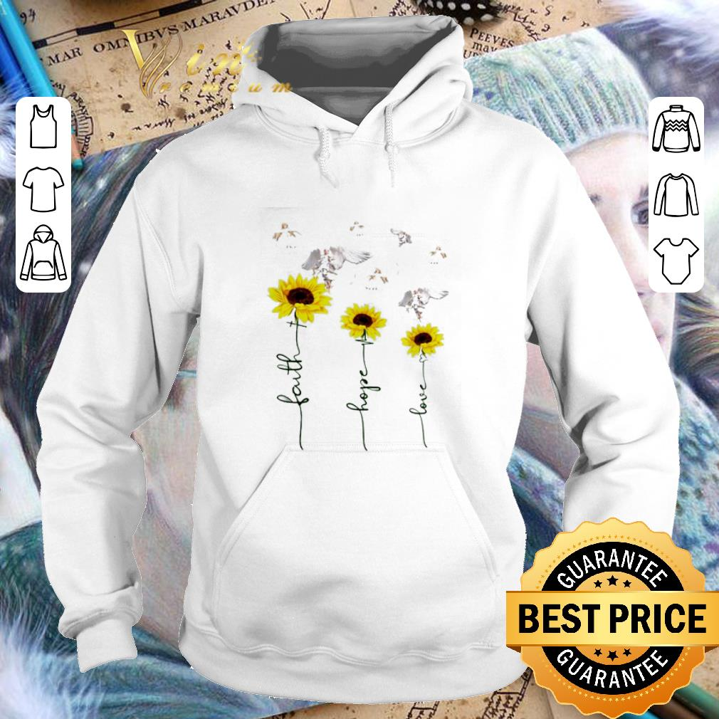 Sunflower angel faith hope love shirt