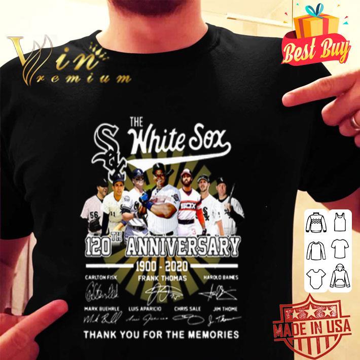 The Chicago White Sox 120th Anniversary 1900-2020 Signatures shirt