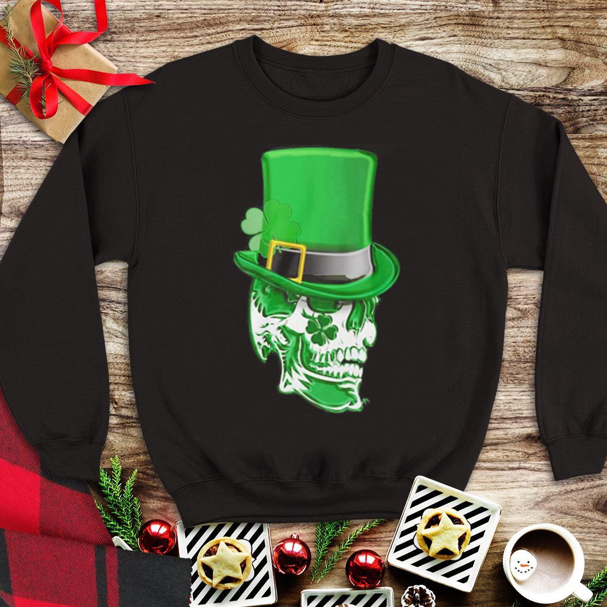 Top Clover Skull Saint Patrick's day shirt