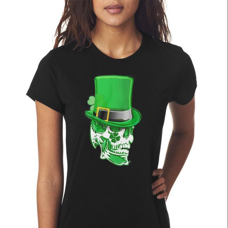 Top Clover Skull Saint Patrick's day shirt 3