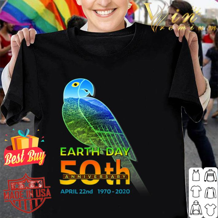 Tropical Parrot Silhouette earth day 50th anniversary april 22nd shirt