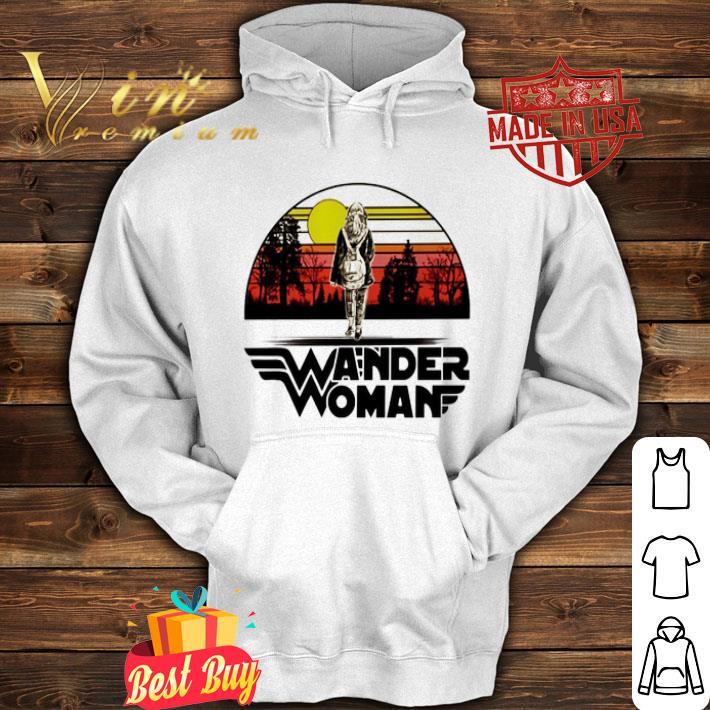 Wander woman logo sunset shirt