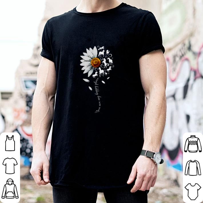 White flowers horses you are my sunshine shirt 2