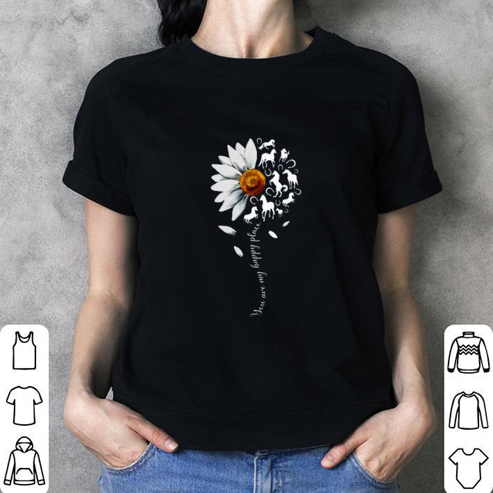 White flowers horses you are my sunshine shirt 3