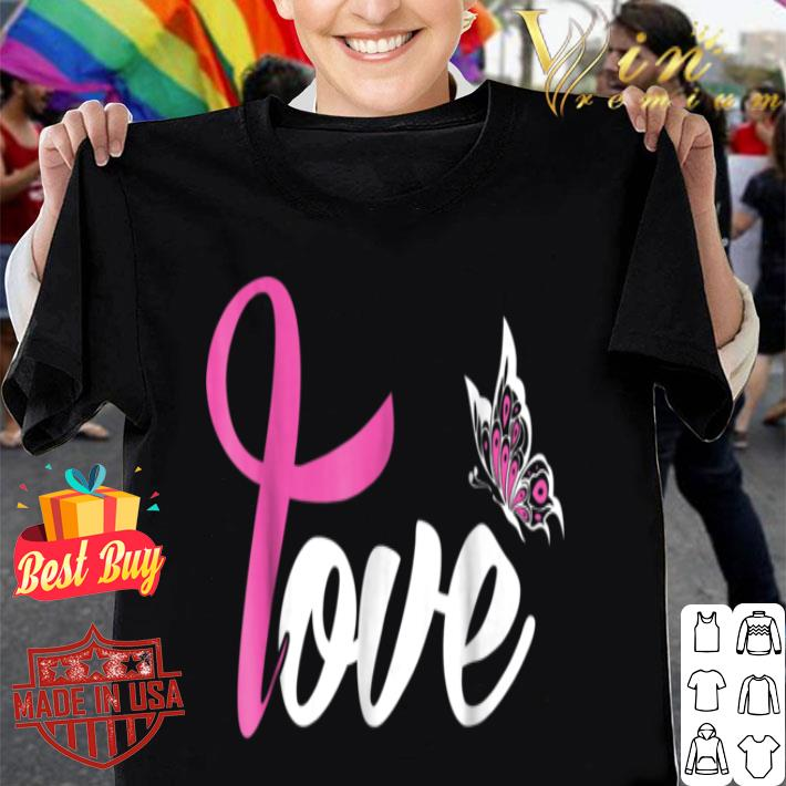 breast cancer survivor t butterfly warrior mom wife shirt