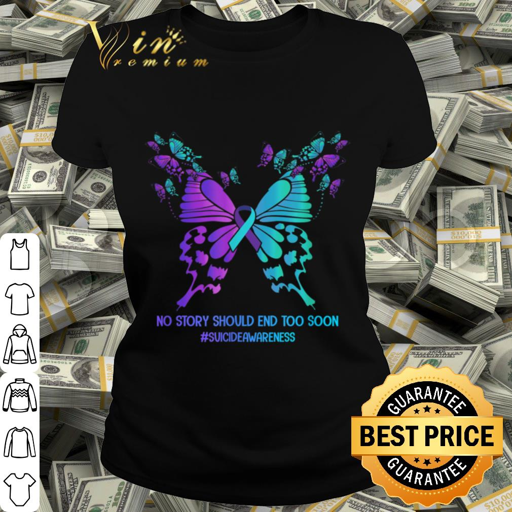 suicide prevention awareness ribbon butterfly t shirt