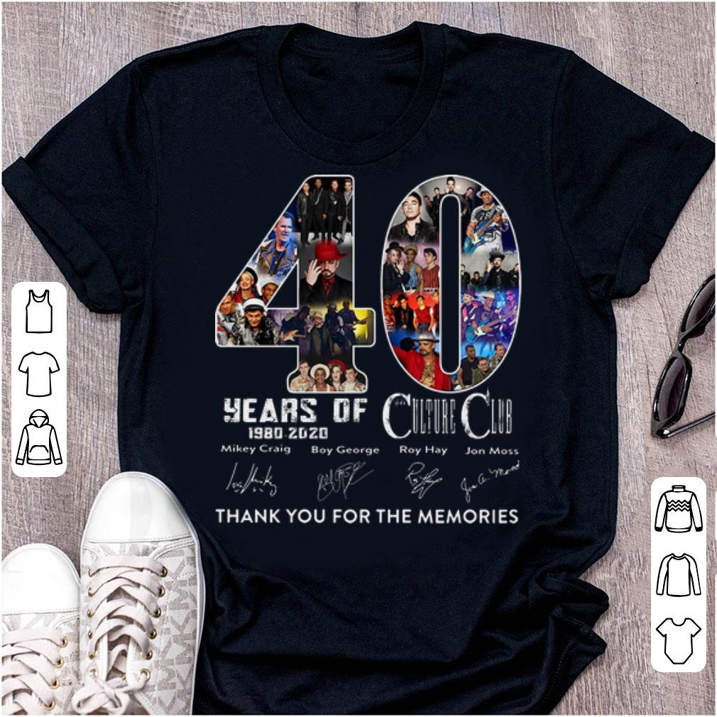 40 Years Of Culture Club Thank You For The Memories Signatures Shirt 1