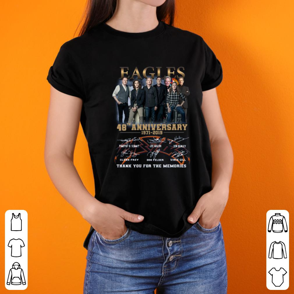 Eagles Band 48th Anniversary Thank You For The Memories Signatures Shirt 3