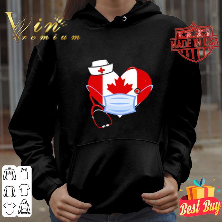 Love Canada nurse heart face mask shirt